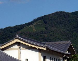 京都ハンディクラフトセンターから見た大文字山