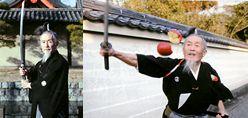 ジョー岡田 空中リンゴ斬り