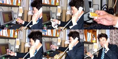 京都シルク社長の生放送ラジオ収録風景